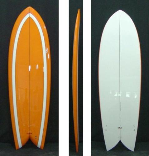 6 39 0 Retro Fish Epoxy Surfboard 23 24