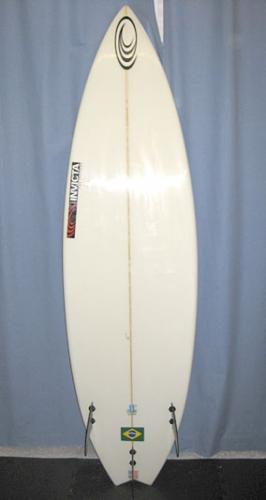 Invicta 6 0 Swallow Tail Fcs Tri Fin System W Deck Pad