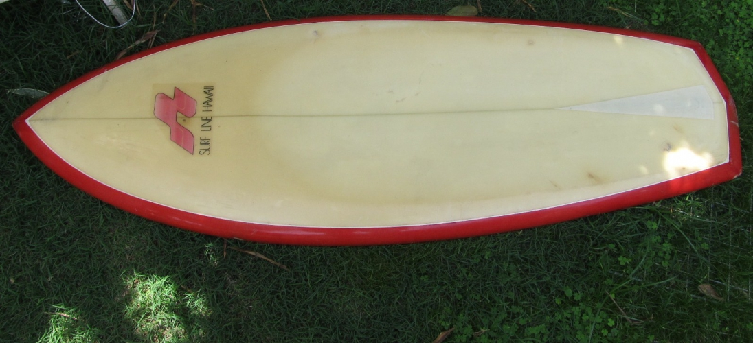 VINTAGE SURFLINE HAWAII KNEEBOARD 4'9