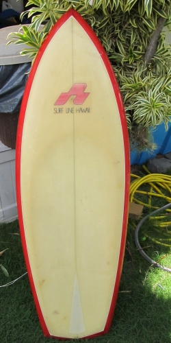 "VINTAGE SURFLINE HAWAII KNEEBOARD 4'9""  Image 4"